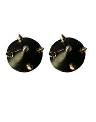Black Vinyl Rivets Spike Studded Nipple Pasties