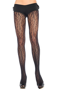 Leopard Pattern Fishnet Pantyhose