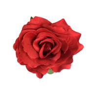 Red Rose Pin-up Hair Flower Clip Brooch -