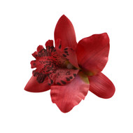 Red Summer Orchid Small Hair Flower Clip
