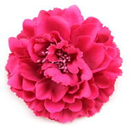 Pink Peony Realistic Pin-up Flower Hair Clip