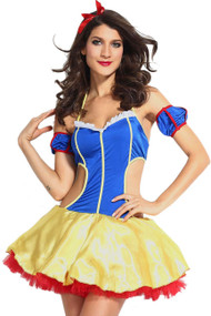Sexy Fantasy Cut out Snow White Costume