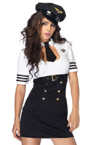 Flirty Pilot Captain Costume