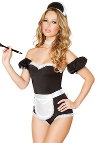 Sexy Darling French Maid Romper Costume
