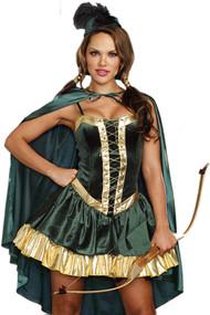 Deluxe Sexy Robin hood Velvet Costume