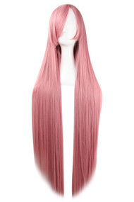 Pink Extra Long Straight Center Parting Wig 39.5""
