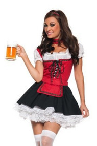 Ruby Beer Maiden  Dirndl Costume XL Plus Size