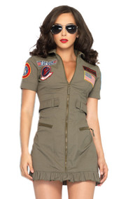Air Strike Army Babe Costume XL Plus Size