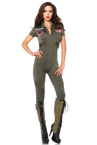 Sexy Army Pilot Jumpsuit Costume