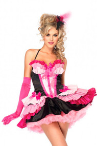 Moulin Rouge Babe Costume with Gloves