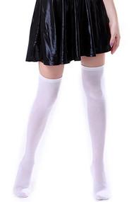 平纹白色多针织在膝盖袜子