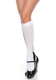 White Knee High Sheer Stockings