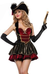 Deluxe Fancy Swashbuckler Pirate Costume
