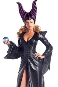 Feisty Maleficent Vinyl Faux Leather Costume