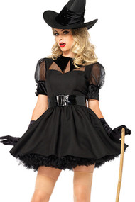 Deluxe Bratty Pin-up Witch Costume