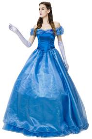 蓝色优雅的灰姑娘公主礼服