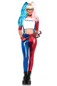 Harley Pantsuit Jester Metallic Costume