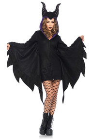 Maleficent Hooded Mini Dress Costume