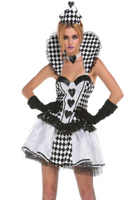 White & Black Queen of Hearts Costume