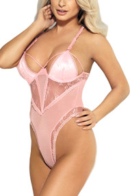Cassie Baby Pink Lace Tanga Teddy