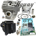 HYWAY 56MM BIG BORE TOTAL OVERHAUL KIT FITS STIHL 066, MS 650, MS 660 CYLINDER, PISTON, RINGS ASSEMBLY