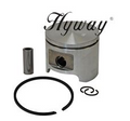 HYWAY HUSQVARNA 44MM 350, 351, JONSERED 2149, 2150 PISTON AND RING ASSEMBLY NEW