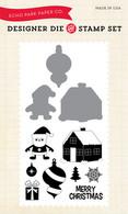Santa's Village Die/Stamp Combo