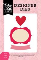 Heart Label Die Set