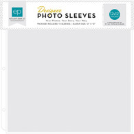 12x12 Page Protectors Made For All 3-Ring Albums     10-Pack