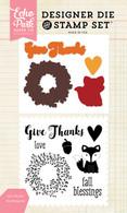 Give Thanks Die/Stamp Set