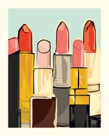 Lipstick Art Print - 8x10