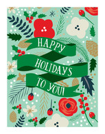 Happy Holidays Art Print - 11x14