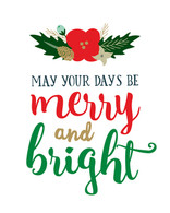 Merry & Bright Art Print - 8x10