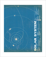 Solar System Art Print - 8x10