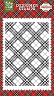 Holiday Plaid A2 Background Stamp