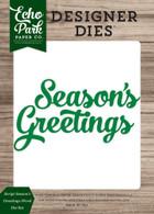 Script Season's Greetings Word Die Set