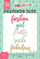 Fashion Girl Word Die Set