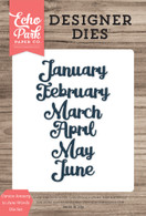 Cursive January to June Words Die Set