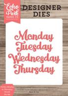 Cursive Monday to Thursday Words Die Set