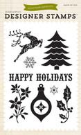Happy Holidays 4x6 Stamp