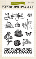 Beautiful Girl 4x6 Stamp