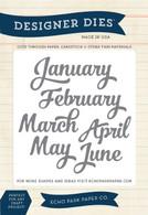 Jan-June Months Die Set