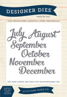 July-Dec. Months Die Set