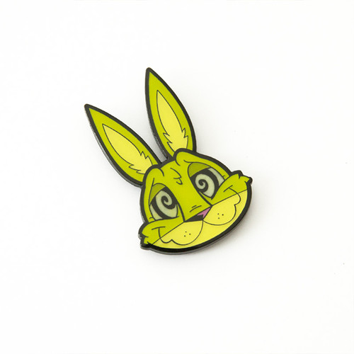 Spaced-Out Bunny pin