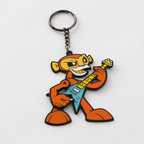 Rockin' Monkey keychain - orange