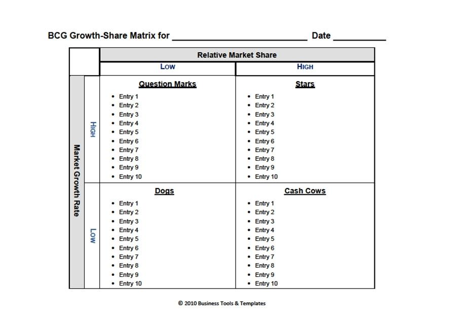 Boston matrix boston consulting group matrix template for word boston consulting group matrix template word 2007 2010 2013 ccuart Gallery