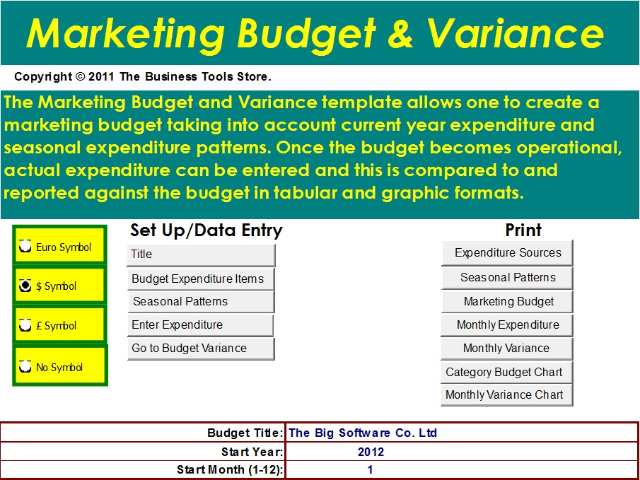 budget analysis template excel
