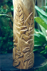 Hawaiian Floral Carvings