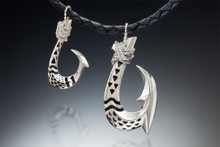 Hawaiian Tattoo Collection, in sterling silver with black enamel inlay