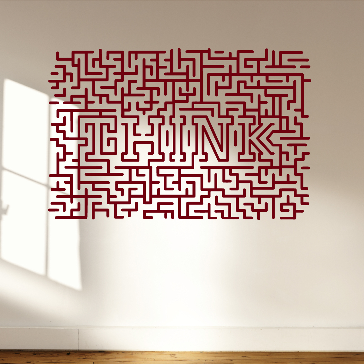 THINK Quote Wall Decal Sticker